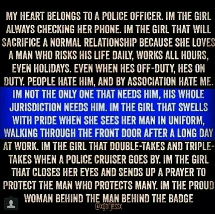 Challenges of dating a police officer
