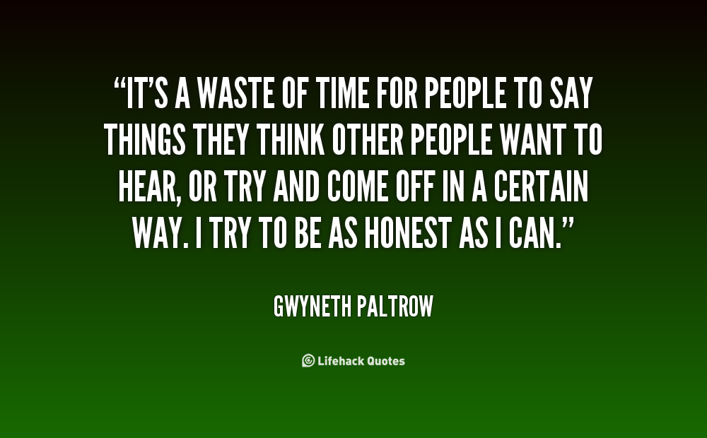 Wasting Time On People Quotes. QuotesGram
