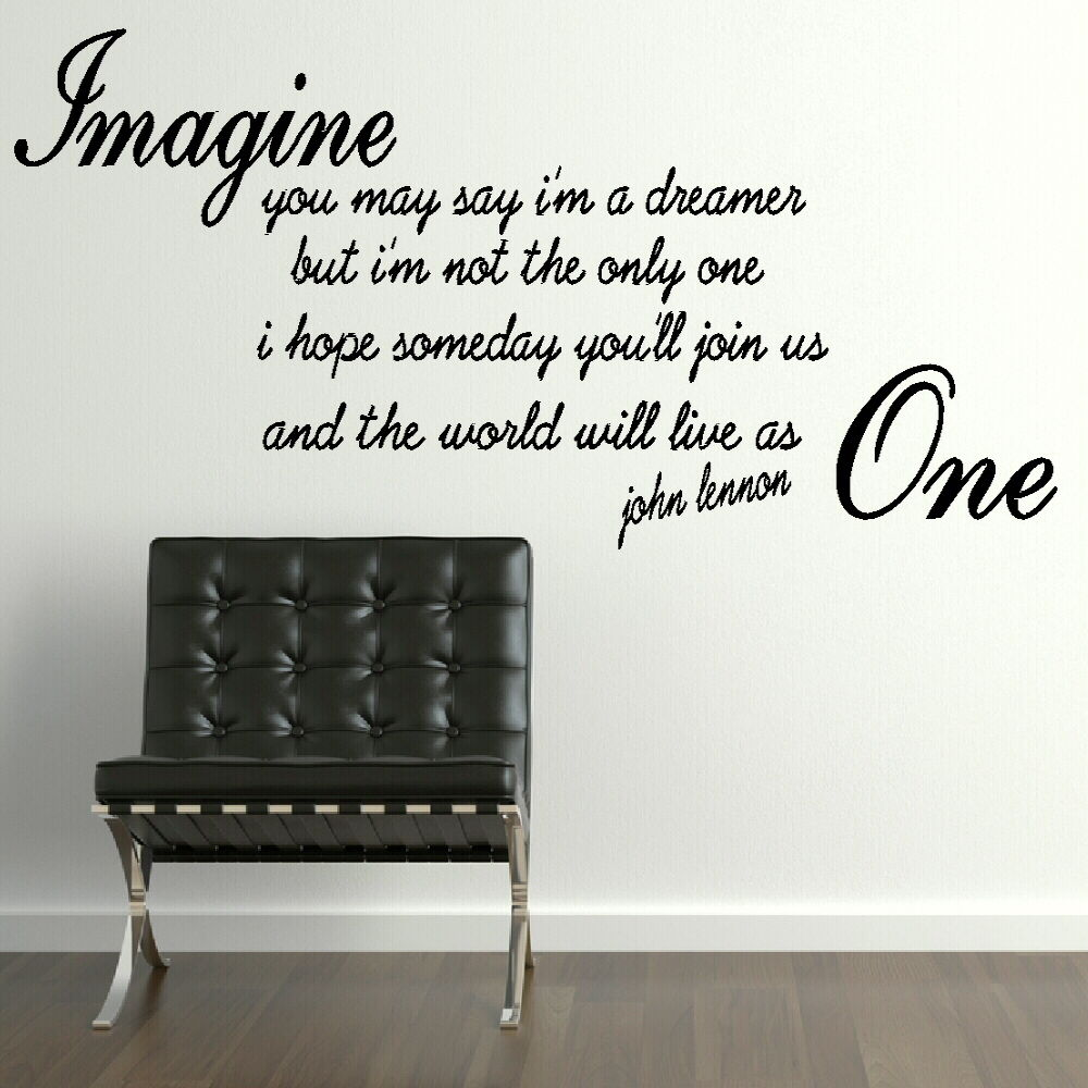 Wall Art Stickers Song Lyrics : John lennon quotes imagine quotesgram