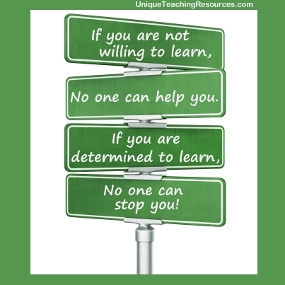 QUOTE & POSTER: If you are not willing to learn, No one ...