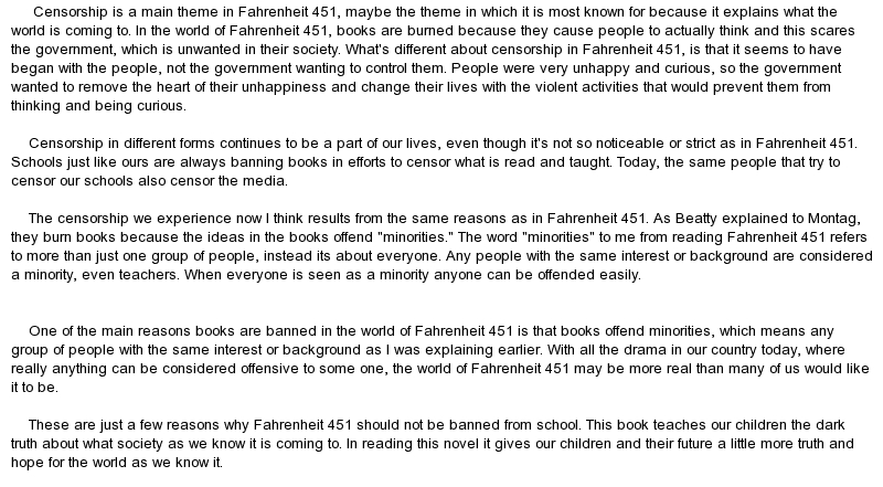 Essay On Not Banning Books
