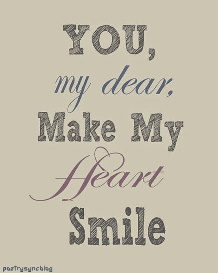 Just The Thought Of You Makes Me Smile Quotes. QuotesGram