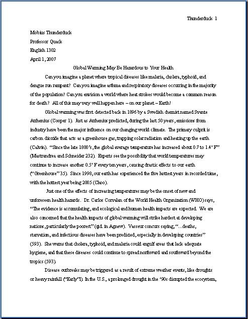 Proper mla format essay