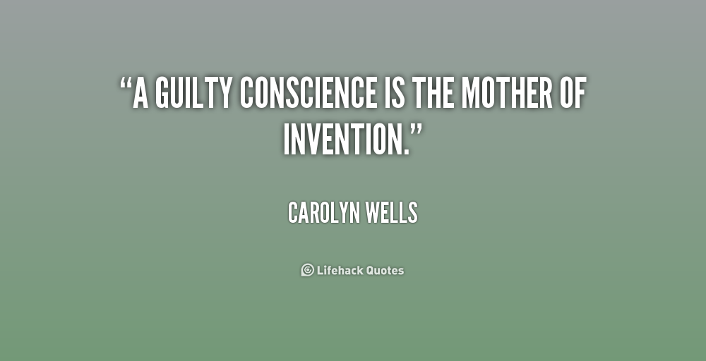 Guilty Conscience Quotes. QuotesGram