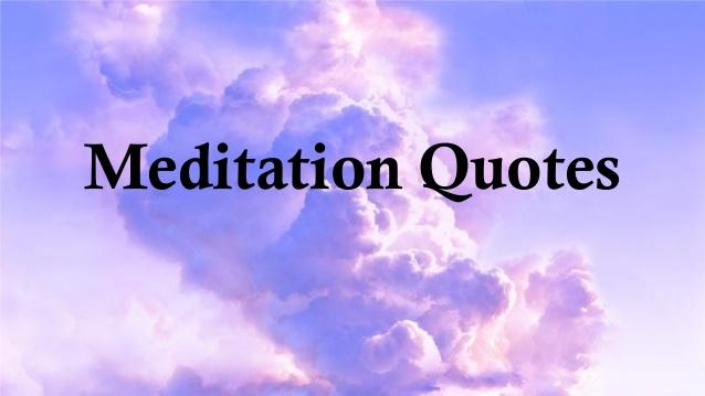Meditation Quotes Quotesgram