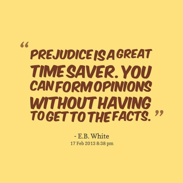 Prejudice facts