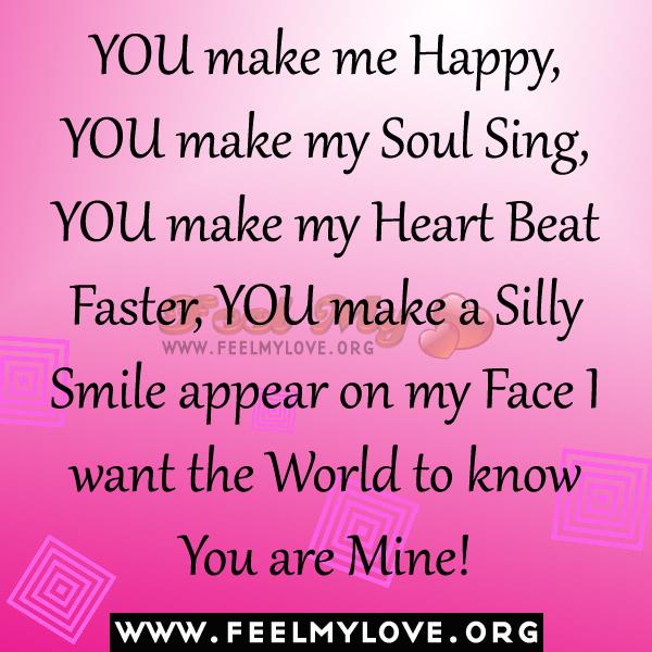 You make my heart happy