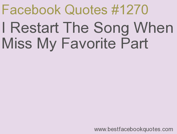 Song Quotes For Facebook Status. QuotesGram