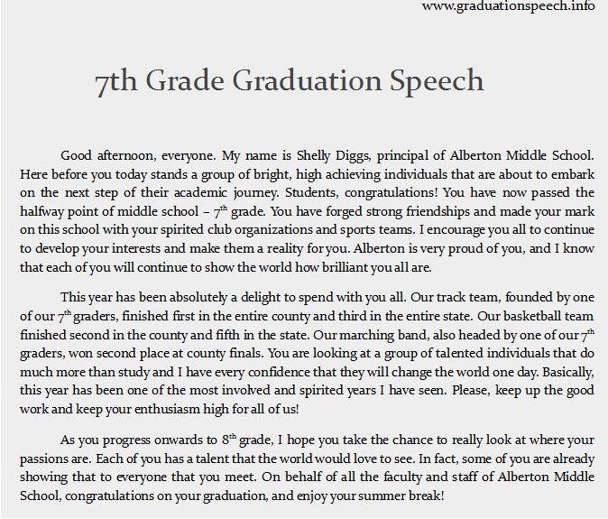 Middle School Graduation Speech Quotes. QuotesGram