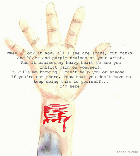 Sad Quotes About Depression: Cutting Your Wrist Cute Quotes. QuotesGram
