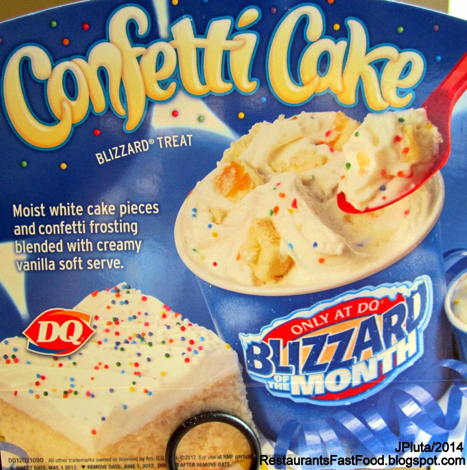 Confetti Cake Ice Cream Dairy Queen
