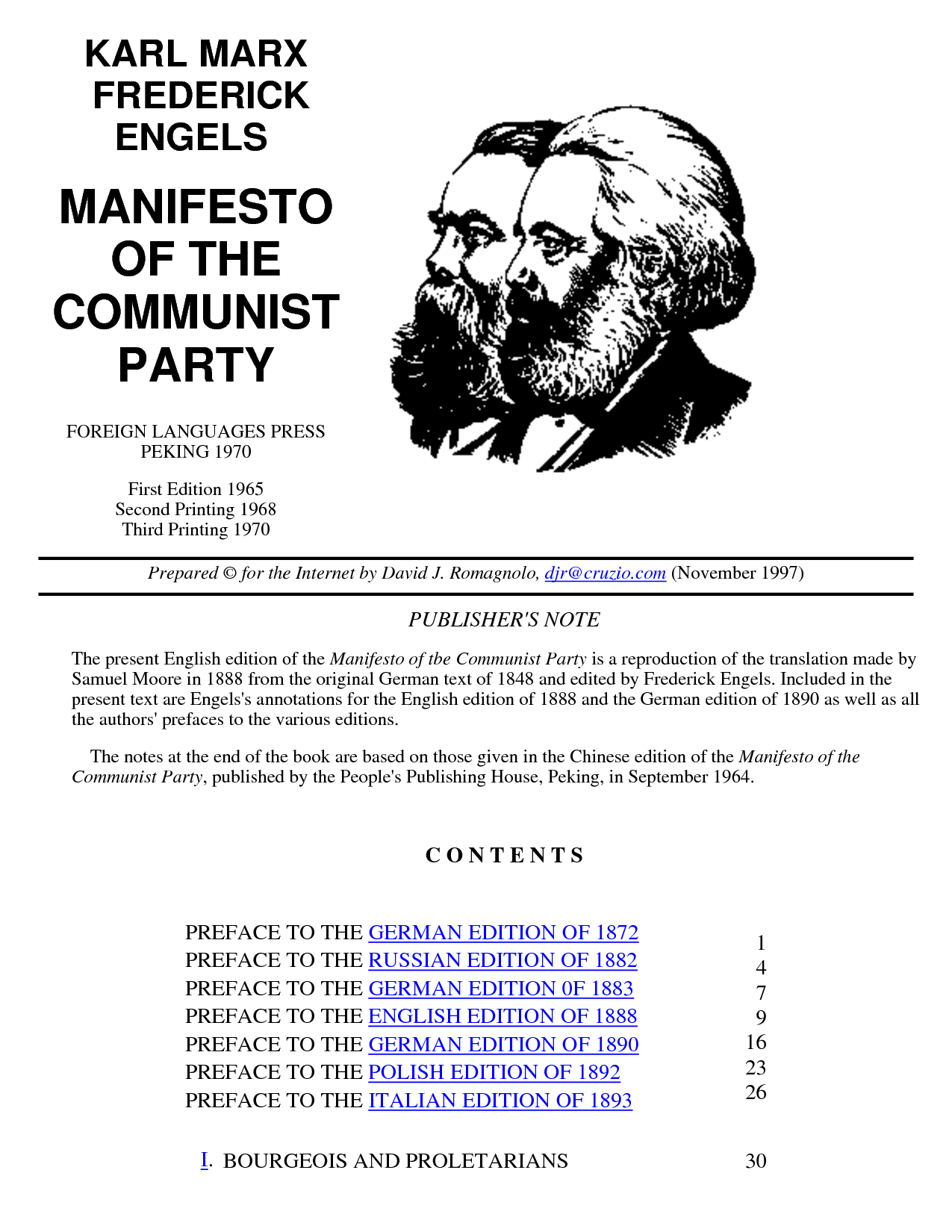 an abstract of the communist manifesto by karl marx The marxist critique of liberalism is market socialism the solution what is capitalism relation, or as karl marx (1978) refers to it in the communist manifesto, as callous 'cash payment'.