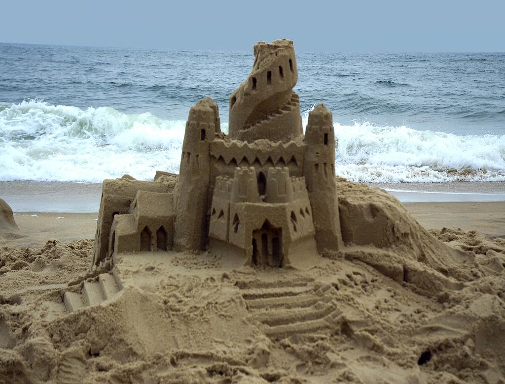 Песочный замок фотографии картинки