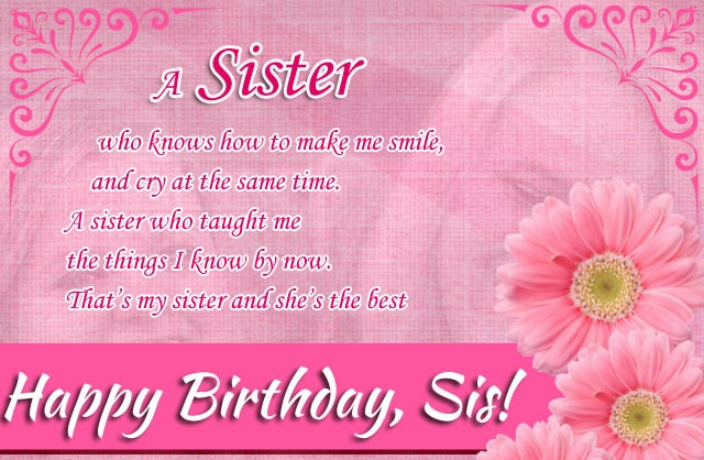 Happy Birthday To A Special Sister Quotes: Inspirational Quotes For Sisters Birthday. QuotesGram