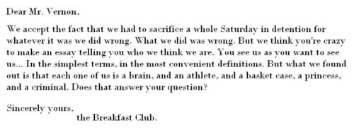 the breakfest club essay