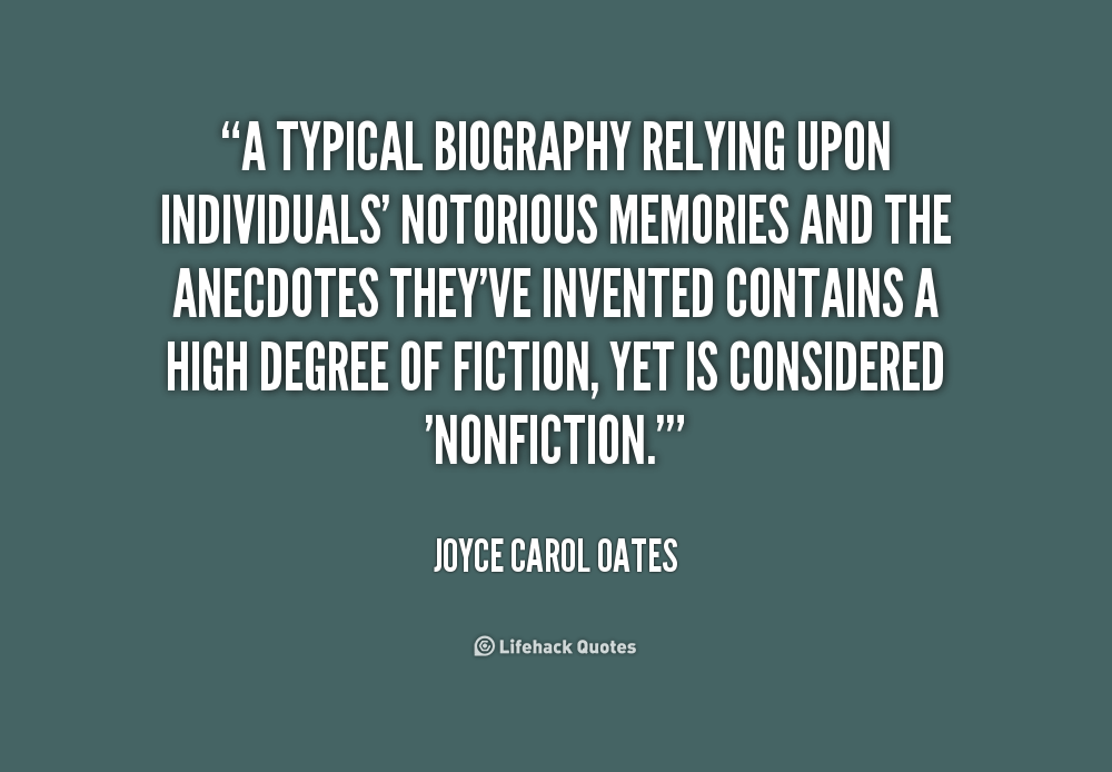 the joyce carol oates biography and life work Joyce carol oates was born in lockport, new york she grew up on her parents' farm, outside the town, and went to the same one-room schoolhouse her mother had attended.
