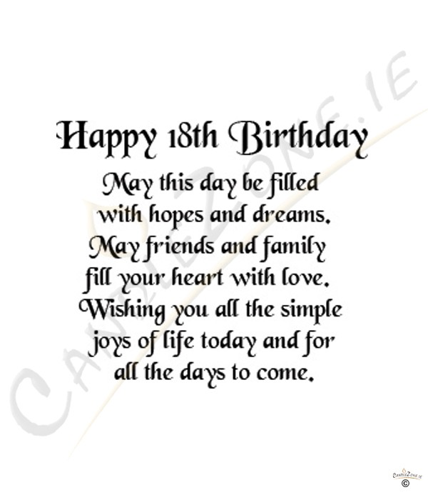 Birthday Quotes For Daughter Turning 18: Happy 18th Birthday Daughter Quotes. QuotesGram
