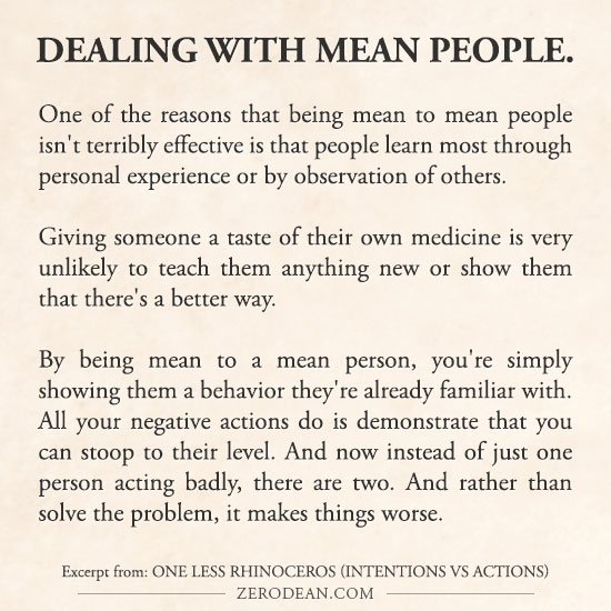 Quotes About Mean People: Dealing With Mean People Quotes. QuotesGram