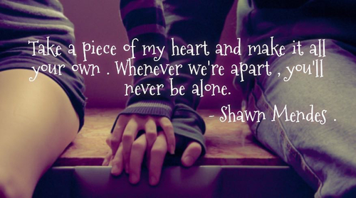 Never Be Alone Shawn Mendes Quotes. QuotesGram