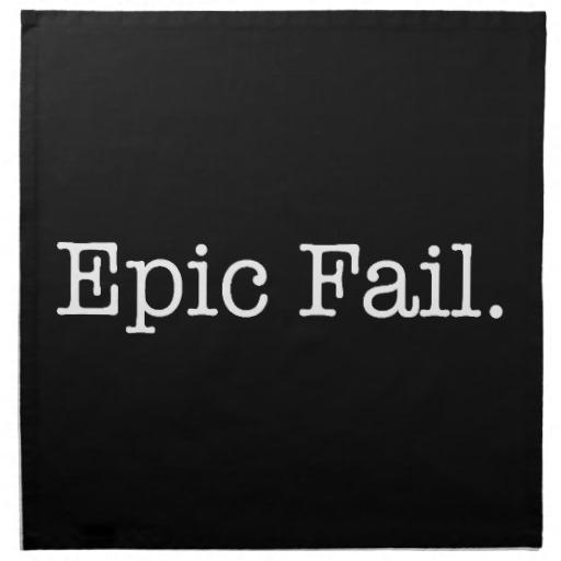 Inspirational Quotes About Failure: Epic Failure Funny Quotes. QuotesGram