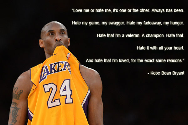 Kobe Bryant Quotes About Haters Quotesgram