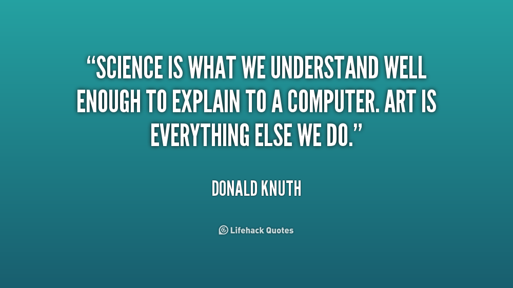 Computer Science Quotes Quotesgram: Donald Knuth Quotes. QuotesGram
