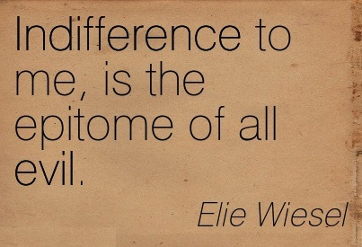 elie wiesel essay on indifference Full text and audio mp3 of elie wiesel: the perils of indifference.