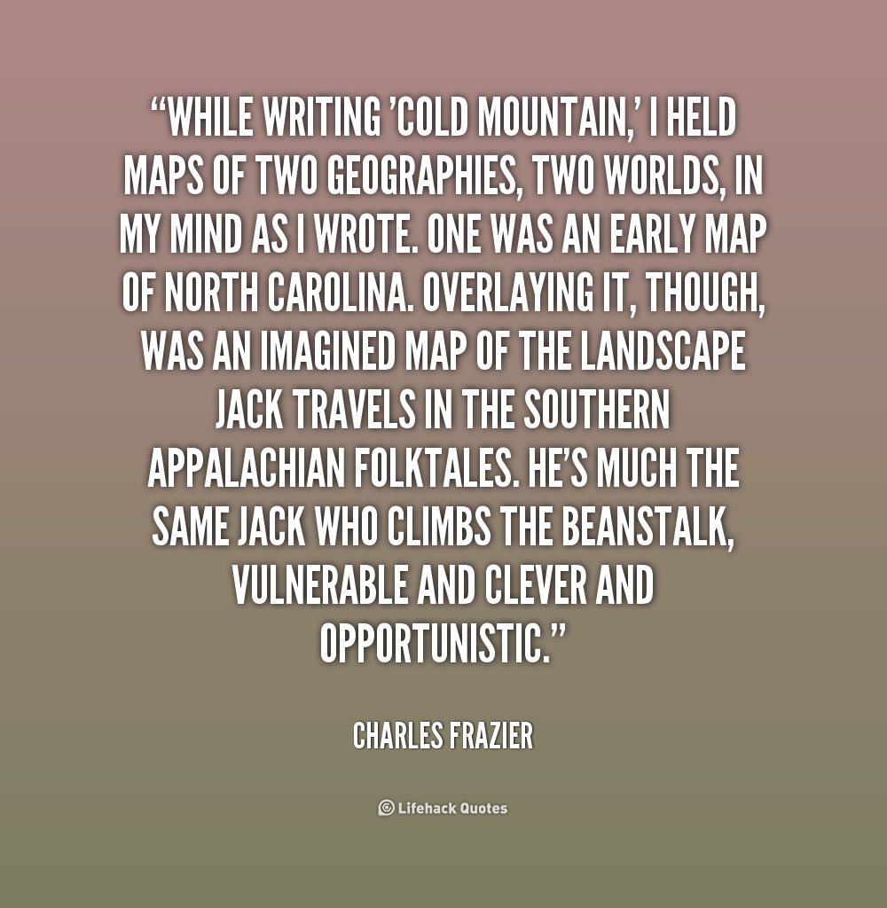 Cold mountain inman essays