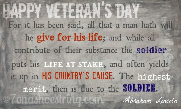 Veterans Day Quotes By Lincoln. QuotesGram