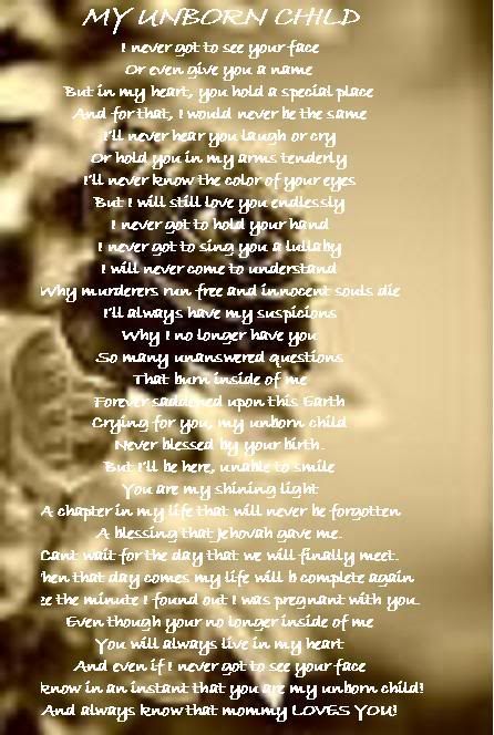 unborn baby girl poems - photo #21
