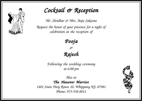 Wedding Indian Wedding Invitation Text Message