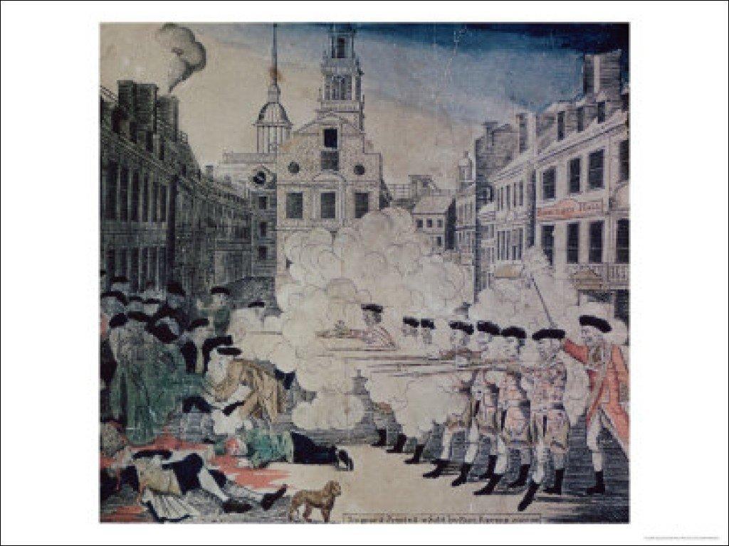 Boston massacre date in Sydney