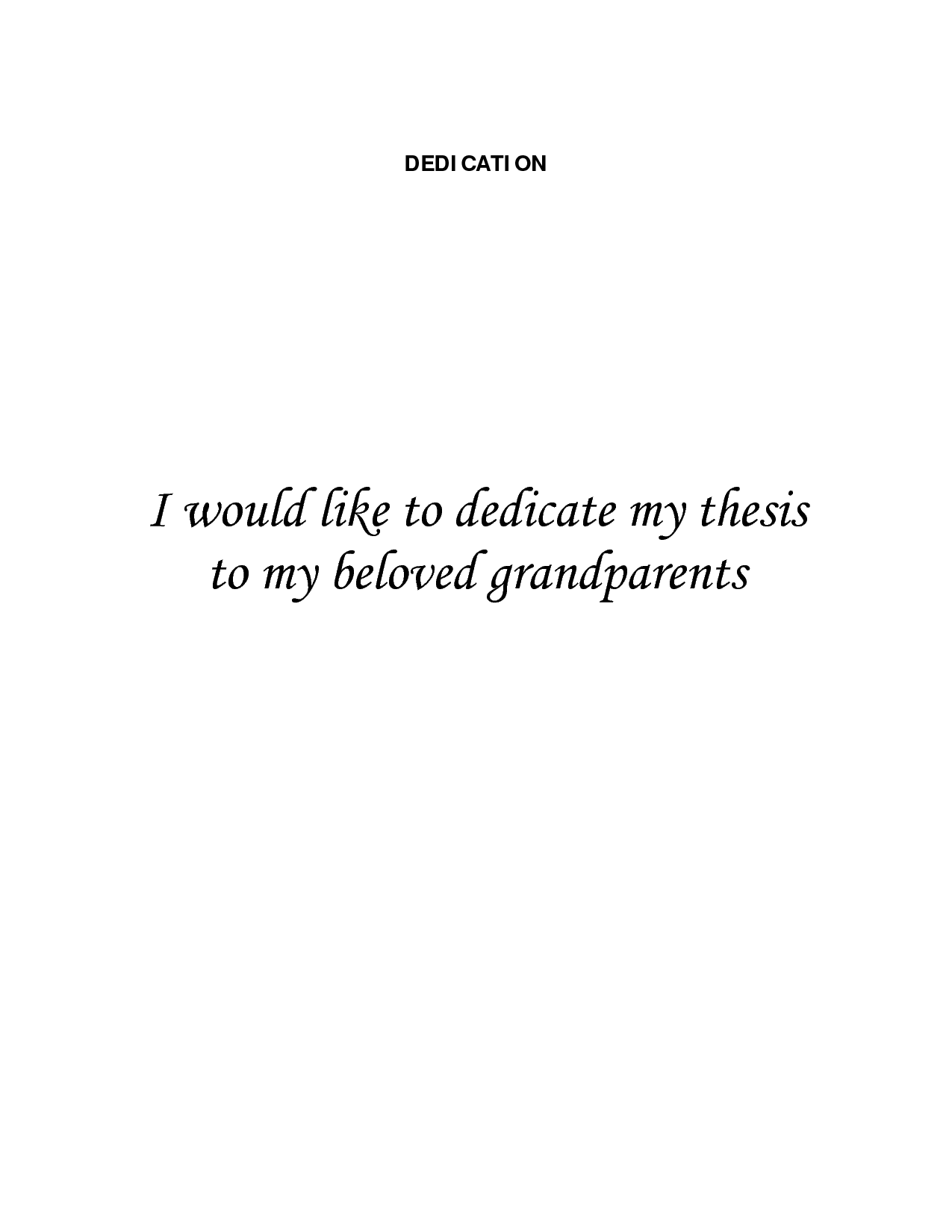 Phd thesis dedication page