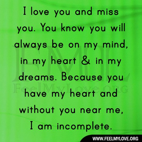 I Miss You Quotes Love: Missing You My Love Quotes. QuotesGram