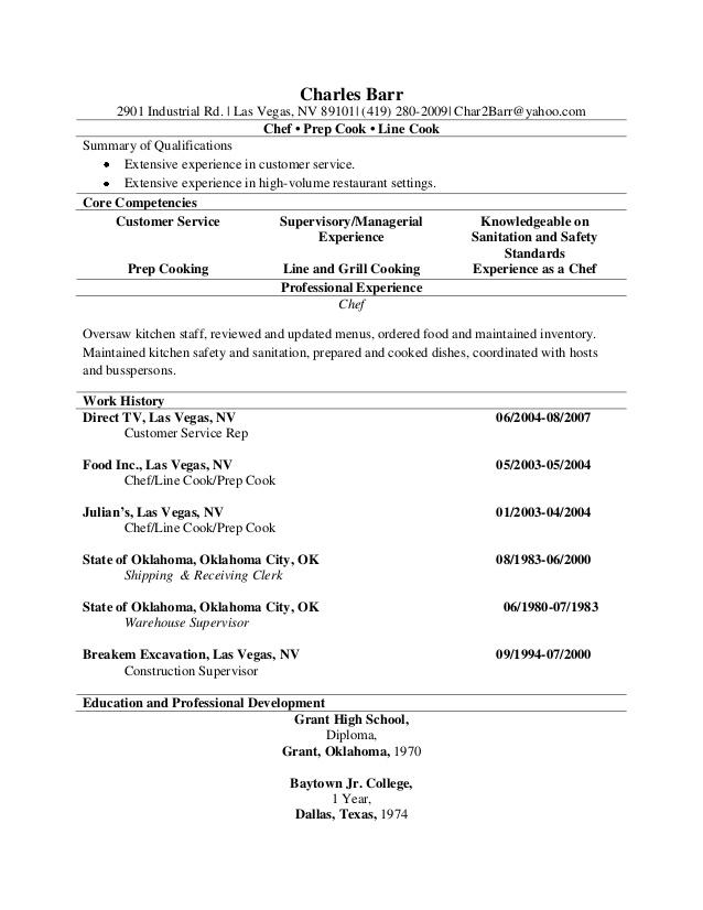 prep chef resume exle resume ixiplay free resume sles