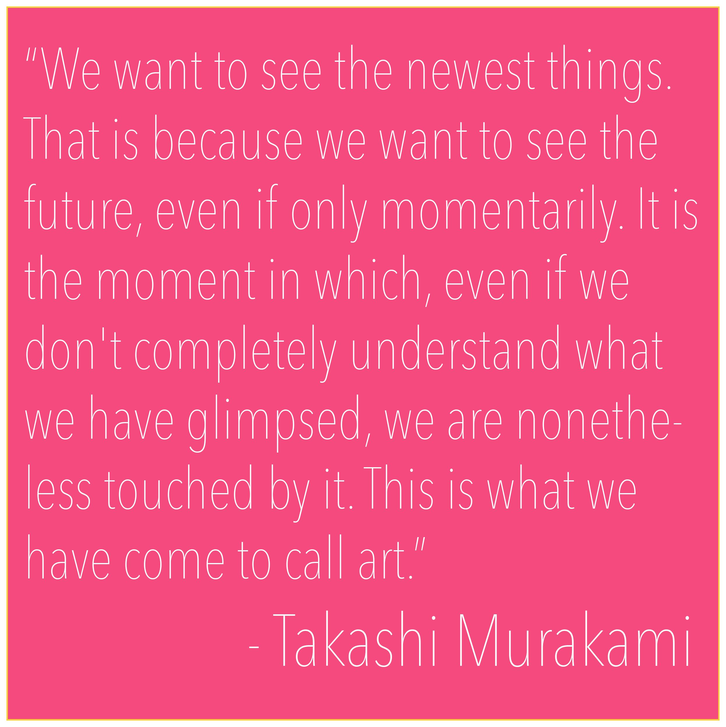 Takashi Murakami Quotes. QuotesGram