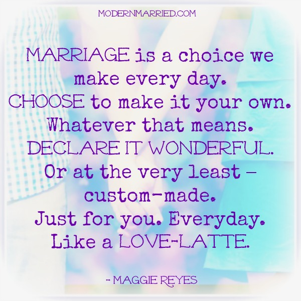 define marriage The definition of a happy marriage isthere is none there isn't one way to fold sheets, or climb mountains, or be a wife there is only.