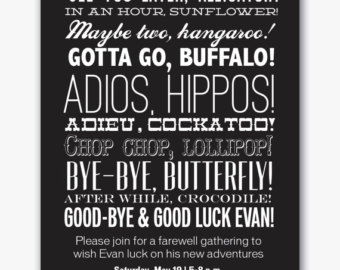 Going Away Party Invitation Template from cdn.quotesgram.com