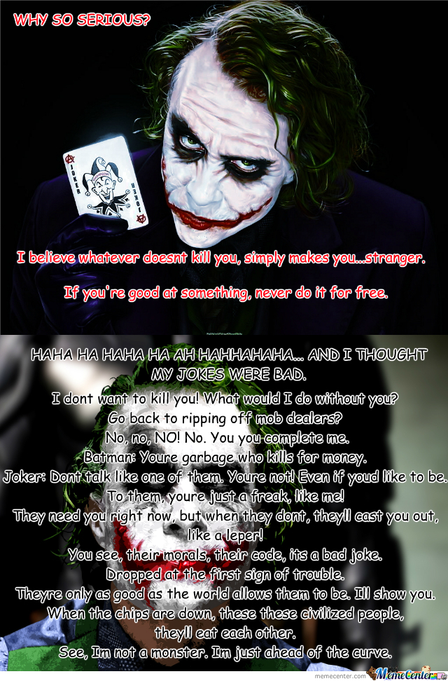 Joker Love Quotes : Top 10 Joker Quotes. QuotesGram