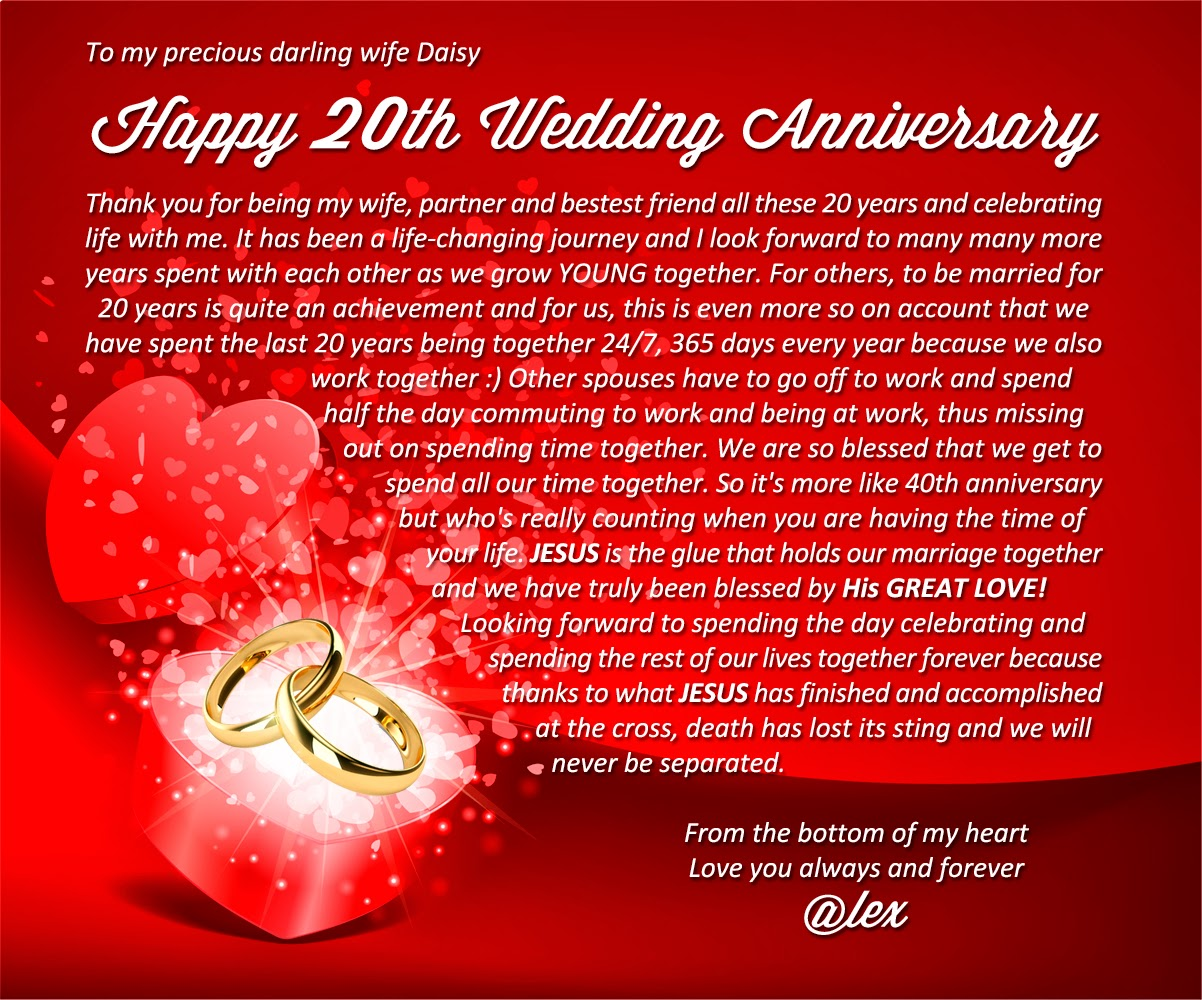 Wedding Anniversary Gifts 20 Years: 20th Year Wedding Anniversary Quotes. QuotesGram