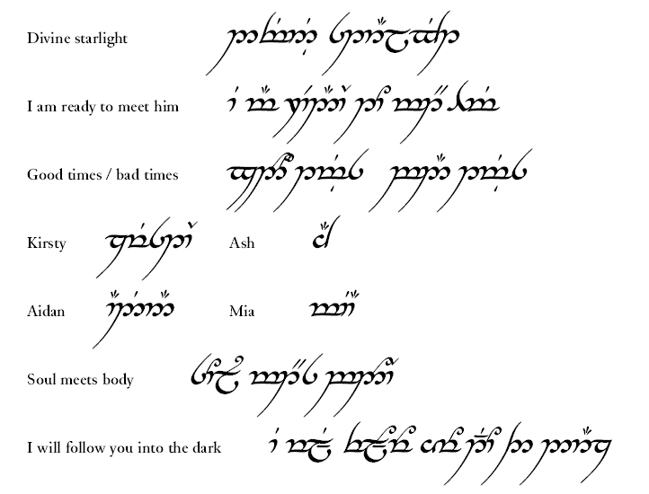 Lord Of The Rings Elvish Life