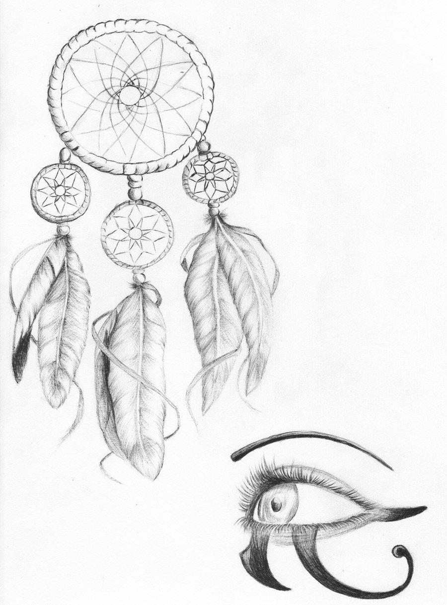 рисунки карандашом ловец снов для начинающих