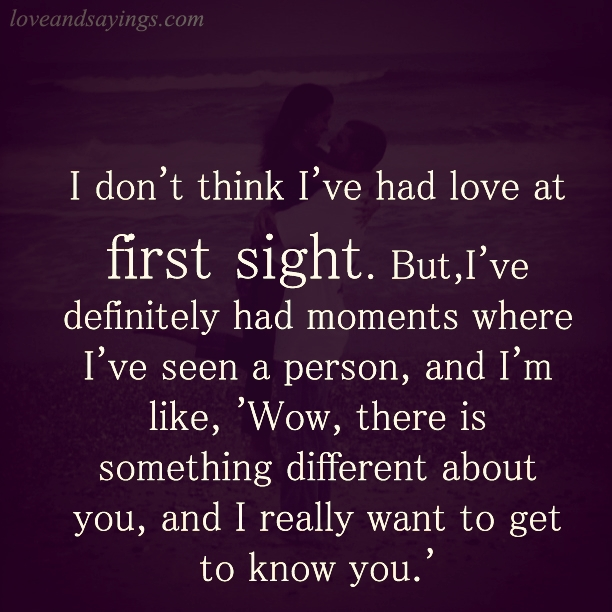 Quotes About Love At First Site: Love At First Sight Quotes And Sayings. QuotesGram