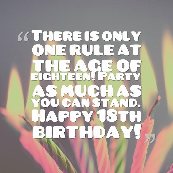 Eighteenth Birthday Quotes. QuotesGram