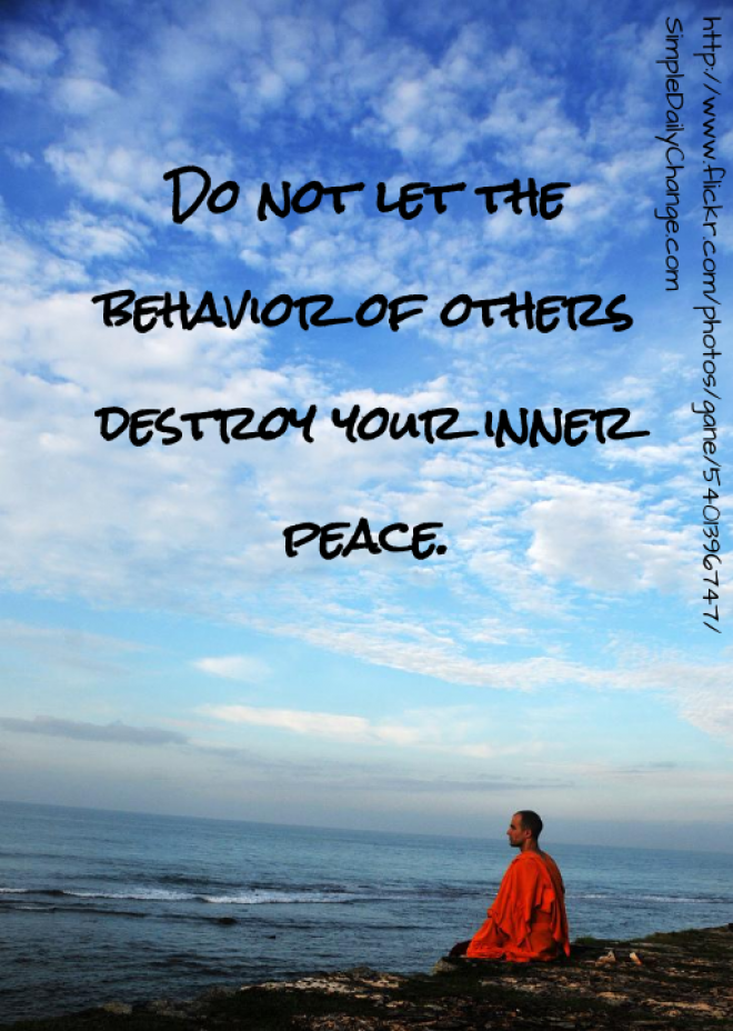 Famous Quotes About Inner Peace. QuotesGram