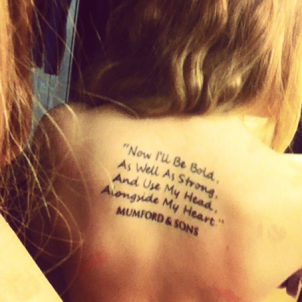 Tattoo Quotes For Your Son: Mumford And Sons Tattoo Quotes. QuotesGram