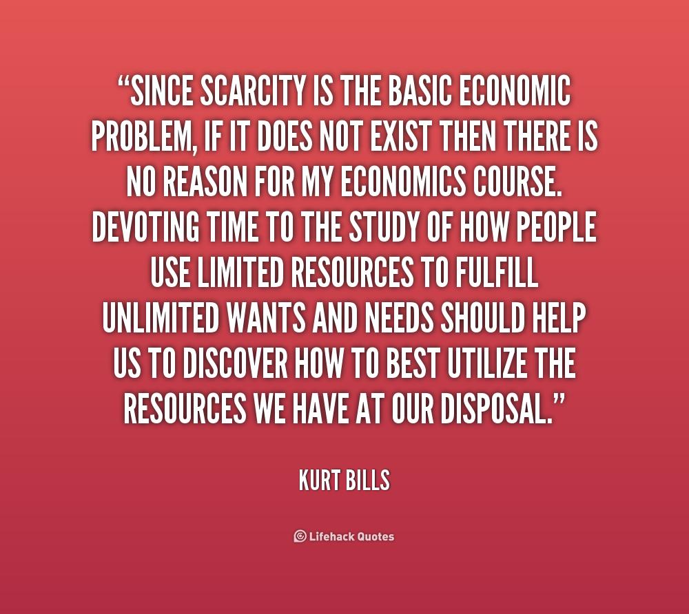 an essay on economic scarcity
