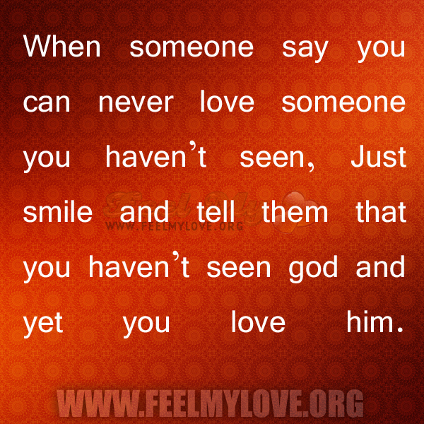 a message to tell someone you love them and just meet