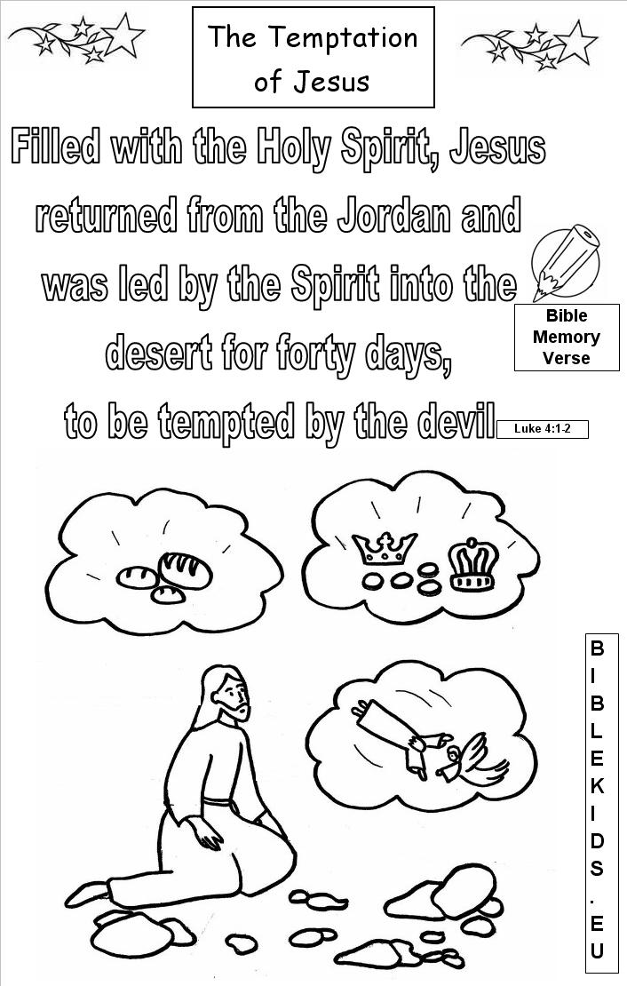Temptation bible quotes quotesgram for Jesus is tempted coloring page