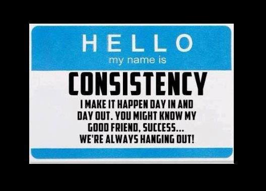 Motivational Quotes Consistency And Persistency: Consistency Quotes Inspirational. QuotesGram